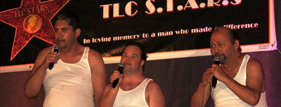 Victor, Paul and David at the TLC talent show.